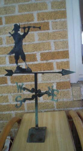 RARE Antique PIRATE Weathervane Long John Silver Sheet Metal Lake Weather Vane