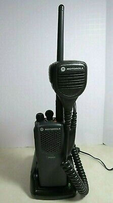 Motorola Pr860 Vhf Radio Aah45kdc9aa3an With Microphone Impres Charger