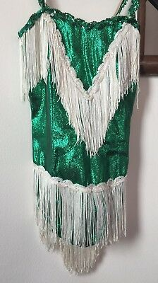 S And M Costume (Girls  S/M Green, Sequins and Fringe showgirl costume-what else do you)