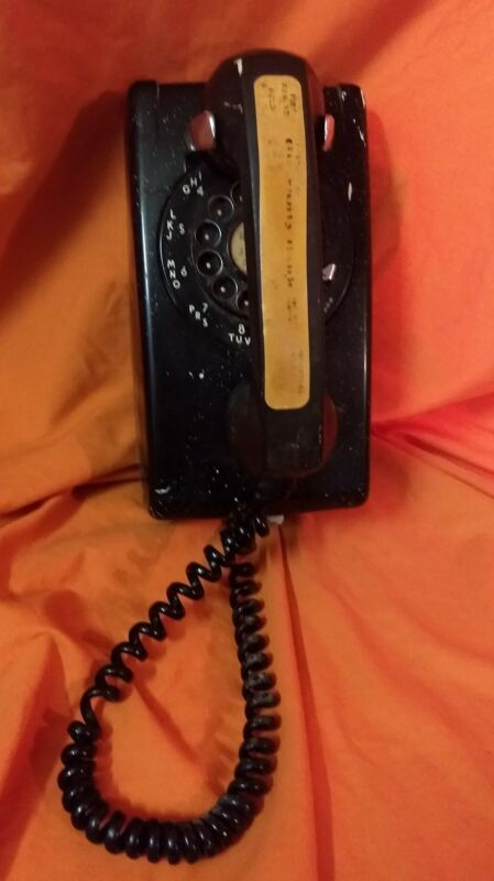 Vintage Rotary Wall Hanging Phone Boack