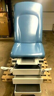 Umf Medical 5150 Exam Table Midmark Ritter Examination Table Obgyn Stirrups Blue