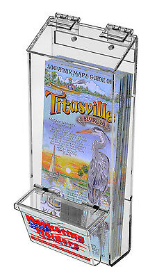 "4"" x 9"" Outdoor Brochure Holder with Business Card Holder"