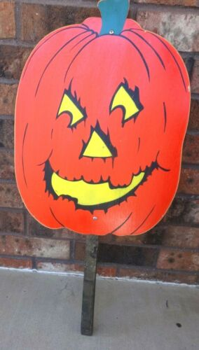 Vintage Halloween Pumpkin/Jack O Lantern Yard Stake Decor By Yardsticks