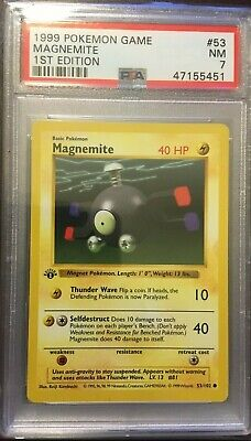 1st Shadowless Base Magemite #53 Psa 7 Near Mint