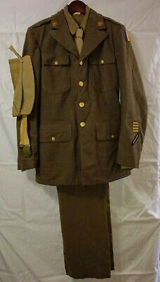 WW2 US Army Uniform Complete Named, Dated 1942