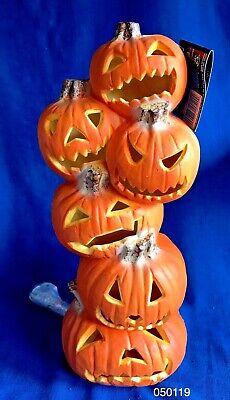 Vintage Trendmaster Halloween Pumpkin Totem Pole Stacked Tower Blow Mold 1993