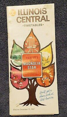 Illinois Central IC Timetable The Magnolia Star Dec 15, 1967  Travel Brochure