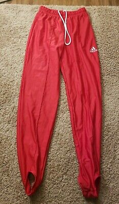 Men's Small Adidas Gymnastics Pommel Stirrup Pants Red