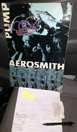 Aerosmith Pump Concert Program****Personally Owned by Joey Kramer***