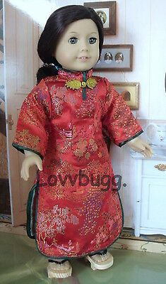 748680a84 Lovvbugg Red Chinese Dress for 18 inch American Girl Doll esp. Ivy ...
