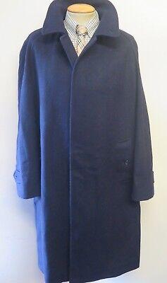 "Genuine Burberry Blue Wool Raincoat Coat Mac Size XL 46"" Euro 56 R"