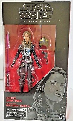 "Star Wars The Black Series Legends Jaina Solo 6"" Inch Figure"