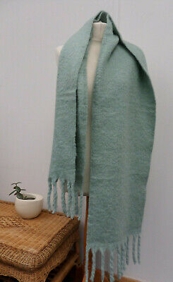 Oriflame Sweden Light Mint Pastel Green Soft Warm Thick Long Scarf