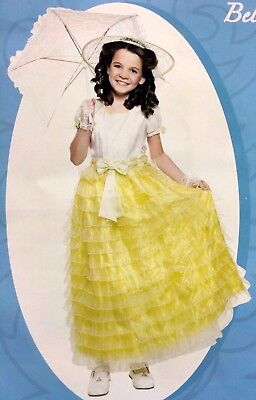 YELLOW SOUTHERN BELLE Child Easter Halloween Costume Fancy Play Dress  N5 (Child Southern Belle Halloween Costumes)