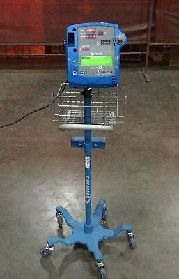 Ge Dinamap Pro 200 Vital Signs Monitor On 5 Wheel Pole Stand Powers On