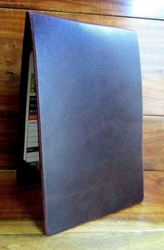 PGA tour Leather golf scorecard yardage book holder wallet Woods USA Handmade
