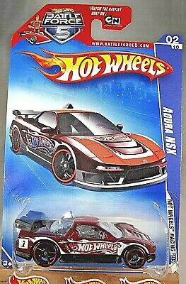 2009 Hot Wheels #68 HW Racing 2/10 ACURA NSX Dark Red Variant w/Black OH5 Spokes