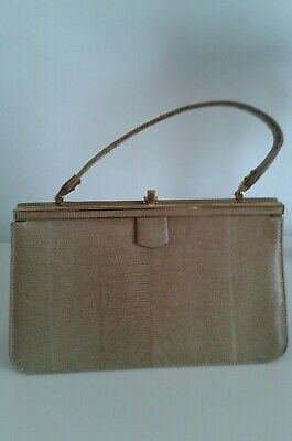 1950s Handbags, Purses, and Evening Bag Styles Vintage Australian brown snake Goldex High Quality women's handbag $24.75 AT vintagedancer.com