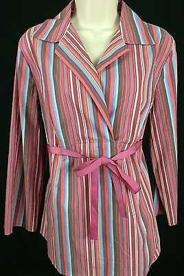 New Motherhood Maternity Top Sz. M Pull Over Stretch 3/4 Sleeves Striped Blouse