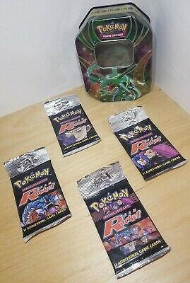 Pokemon TEAM ROCKET (4pk) 1st Edition Booster Pack 1999-2000 Sealed w/ 2017 tin