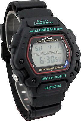 Casio DW290-1V,  Men's 200 Meter WR Chronograph Watch, Alarm, Resin Strap