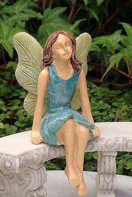 Miniature Dollhouse FAIRY GARDEN ~ Sitting Fairy Girl Sitter ~ NEW