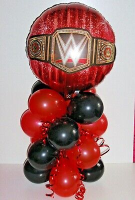 Balloon Table Weights (FOIL BALLOON TABLE DISPLAY  WORLD HEAVY WEIGHT WRESTLING WWE NO  AIR FILL )