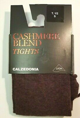 Calzedonia Cashmere Blend Maroon Tights New With Tags S M SHIPS FAST FROM - Cashmere Tights