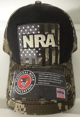 Camouflage Hunting Hat (Buckwear Hunting NRA Digi Camo Camouflage USA Flag Adjustable Hat Nwt )