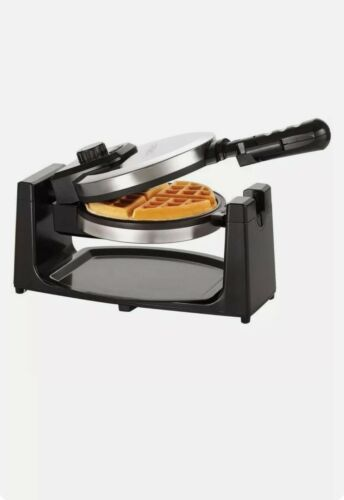 BELLA Classic Rotating Belgian Waffle Maker, Polished Stainless Steel