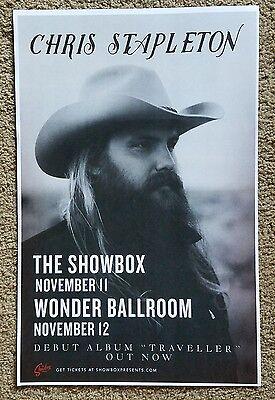 "Chris Stapleton Poster 11""x17"" Show Poster PROMO ONLY"