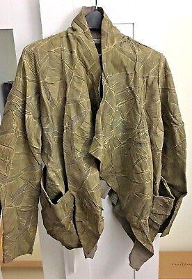 GIORGIO BRATO Distressed Diesel Pattern Leather Jacket Italian sz. 42 IT/6 (Distressed Italian Leather Jacket)