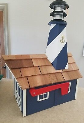 Amish Crafted Solar Powered Lighthouse Mailbox - Lancaster, (Lighthouse Mailbox)
