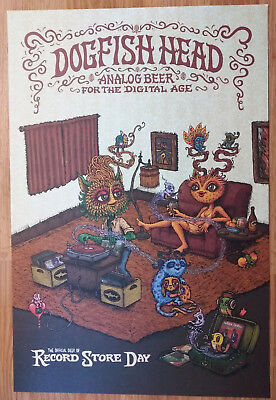 - Dogfish Head Analog Beer 2018 Record Store Day Poster