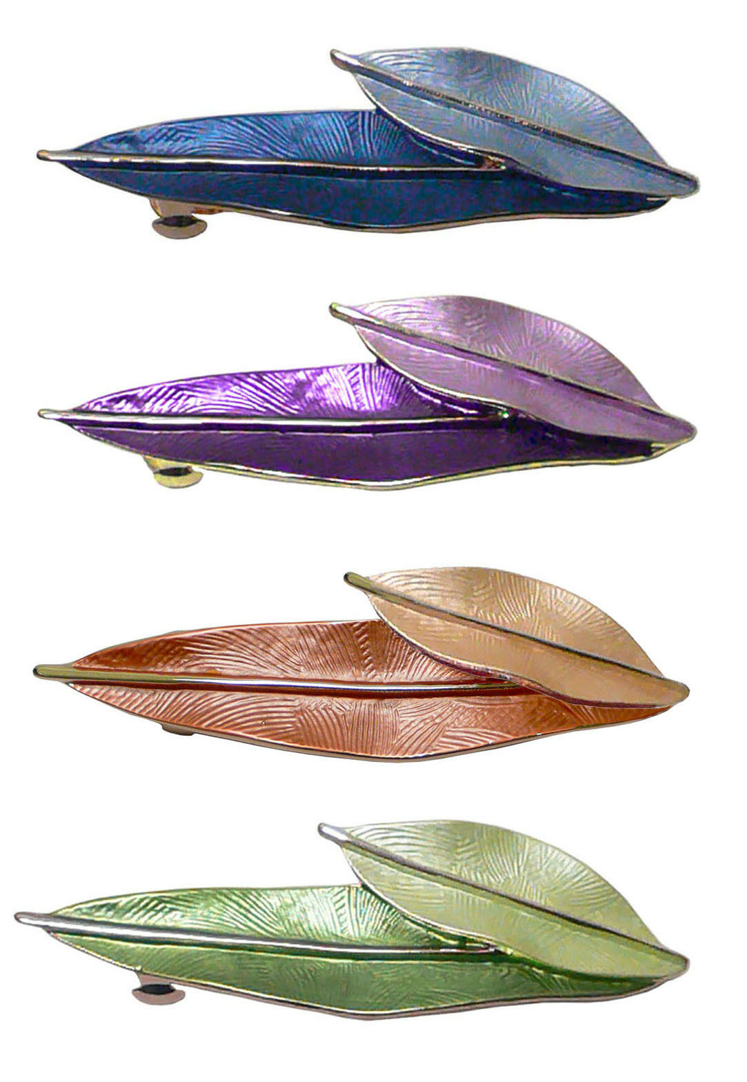 Bella Barrette Hairclip Design of Leaves in Contrasting Shad