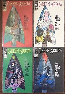 "Green Arrow #35 36 37 38   (DC 1990)  ""Black Arrow Saga Part 1-4""  Grell  VF"