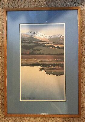 Byron Birdsall Framed Print 1980 Lake And Mountains