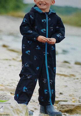 nzug Schneeanzug Regenanzug Overall Gr.74/80 blau NEU (Jungen Blau Anzug)