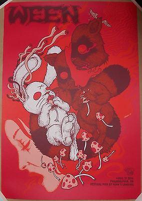 SCARLET RED VARIANT Ween 2016 Philadelphia Jermaine Rogers Signed Print Poster