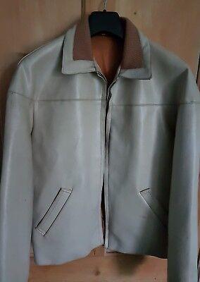Original Vintage 1960s Kett Scooter Jacket/Coat, 44 Inch Chest, Beige & Brown
