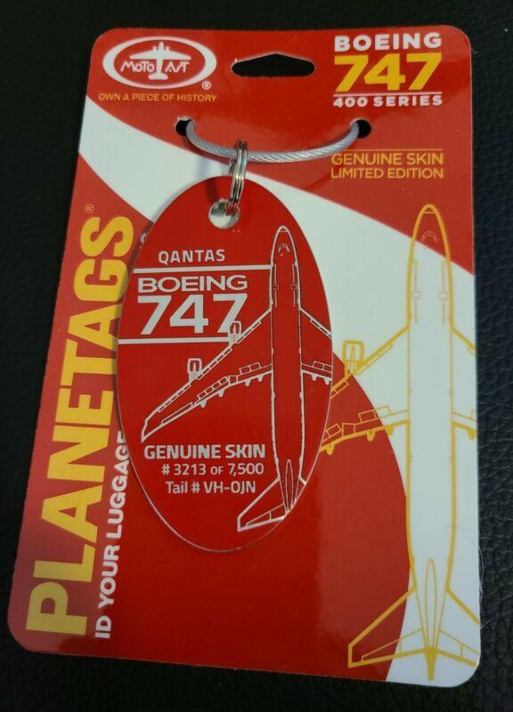 Planetags Qantas Airways Boeing 747-400 VH-OJN Red Plane Bag Tag Limited Edition