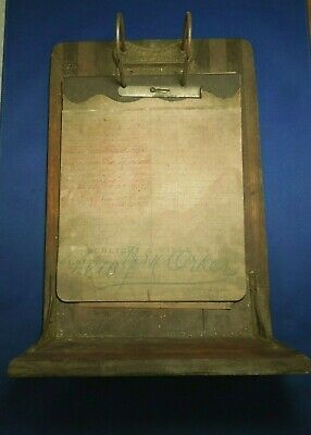 Antique Rare Service File Cabinet Drawer W/ Note Board Last Entry Made in 1898