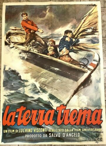 LA TERRA TREMA  Italian one-panel movie poster