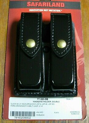 Safariland 77-383-9b Double Magazine Case For Glock 20 21 Hk Usp 9 Usp 40 New