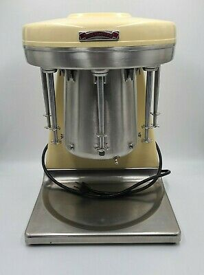 Sterling Multimixer 5 Head Milkshake Stainless Cup Mixer. Collectable Machine