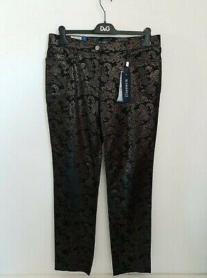 Atelier Gardeur Inga Size 18 black & gold embossed slim fit jeans NWT RRP £99.95