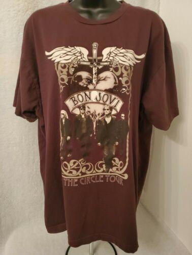 Anvil Mens Multi Color Bon Jovi 2010 The Circle Tour T Shirt Size XL