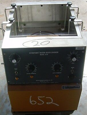 Counter-top Gyratory New Bruinswick Scientific G76 Heated Water Shaker Bath 110v