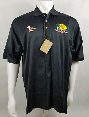 BASS PRO SHOP POLO SHIRT MENS LARGE BLACK EMBROIDERED LOGO ()
