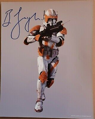 Bodie Taylor Signed 10x8 Clones of Jango Fett and Clone Pilot in Star Wars